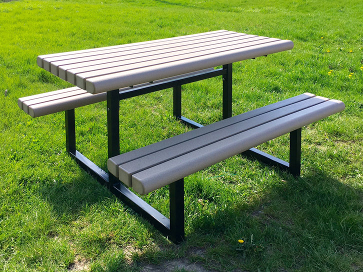 Recycle Design Park Series Commercial Site Furnishings - Picnic table specs